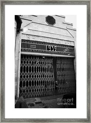 bandabuliya covered bazaar belediye pazari municipal market in nicosia TRNC turkish cyprus Framed Print by Joe Fox