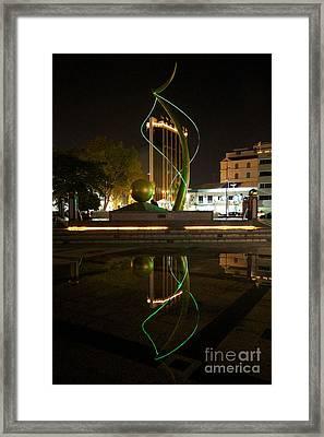 Framed Print featuring the pyrography Bandar Seri Begawan  by Gary Bridger