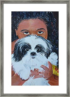 Bandit And Me Framed Print by Peggy Patti