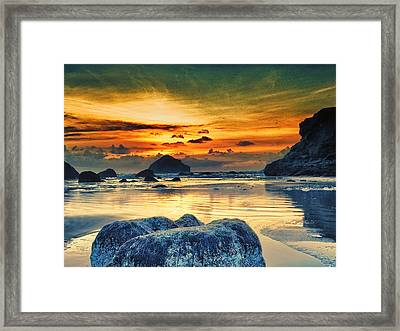 Bandon At Sunset Framed Print