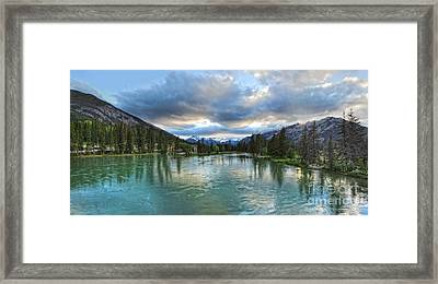 Banff And The Bow River - 01 Framed Print by Gregory Dyer