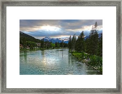 Banff And The Bow River - 02 Framed Print by Gregory Dyer