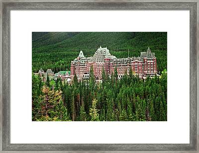 Banff Hotel 1607 Framed Print by Larry Roberson