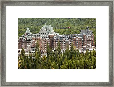 Banff Hotel 1684 Framed Print by Larry Roberson