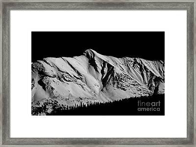 Banff National Park Monochrome Framed Print by Terry Elniski