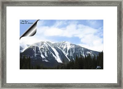 Banff Ski Runs Framed Print by Wayne Bonney
