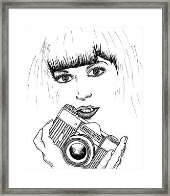 Bangs And Camera Framed Print by Karl Addison