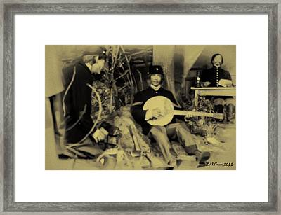 Banjo Playing Union Soldier Framed Print by Bill Cannon