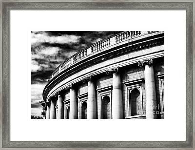 Bank Of Ireland Framed Print by John Rizzuto
