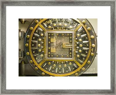 Bank Vault Door Framed Print by Adam Crowley