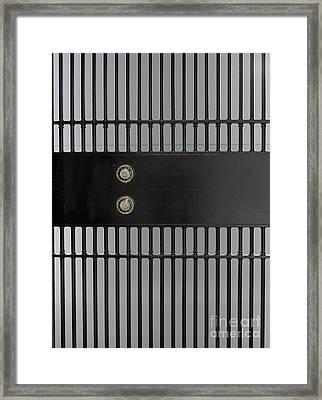 Bank Vault Gate Framed Print by Adam Crowley