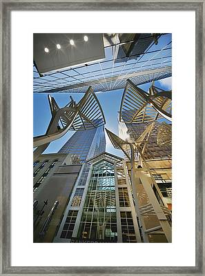 Bankers Hall And Adjacent Buildings Framed Print by Tatiana Boyle