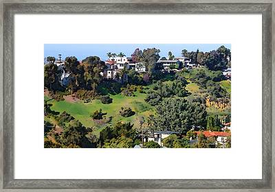 Bankers Hill San Diego Framed Print by Russ Harris
