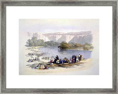 Banks Of The Jordan, 1839, Lithograph Framed Print by Everett