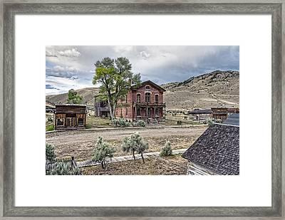 Bannack Ghost Town Main Street - Montana Framed Print by Daniel Hagerman
