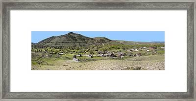 Bannack Pioneer Ghost Town - Montana Framed Print by Daniel Hagerman