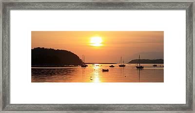Bantry Bay,co Cork,irelandsunset Over Framed Print