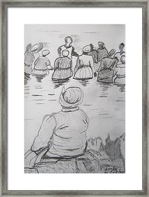 Baptism At Sea Framed Print