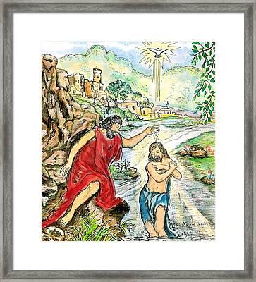 Baptism Of Jesus Framed Print