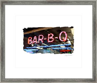 Bar-b-q Framed Print by Geoff Strehlow