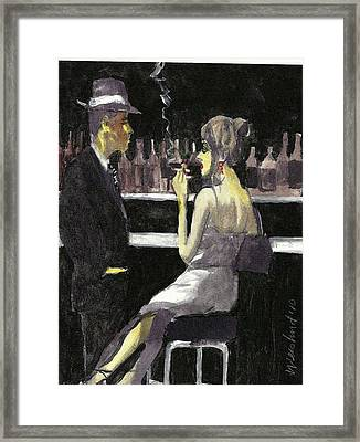 Bar Fly  15 Framed Print by Harry WEISBURD