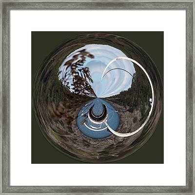 Bar Harbor Maine Orb Framed Print