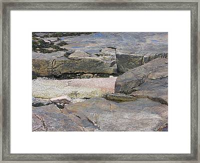 Bar Harbor Rocks Framed Print by J R Baldini M Photog Cr