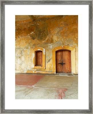 Bar The Doors Framed Print