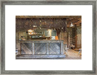 Bar With A Rustic Decor Framed Print by Jaak Nilson