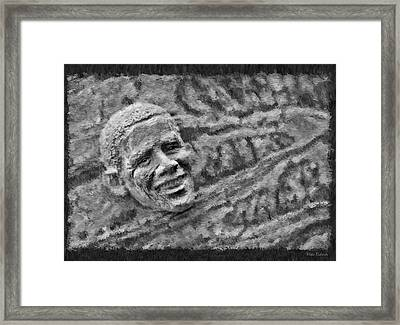Barack Obama  Framed Print by Blake Richards