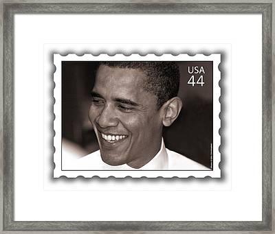 Barack Obama Portrait. Photographer Ellis Christopher Framed Print by Ellis Christopher