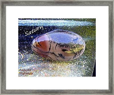 Barack Obama Saturn Framed Print by Augusta Stylianou
