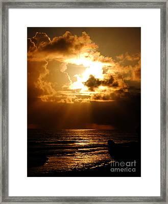 Barbadose Sunrise Framed Print by Lenroy Johnson