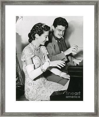 Barbara Stanwyck & Preston Sturges Framed Print