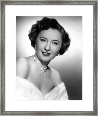 Barbara Stanwyck, 72750 Framed Print by Everett