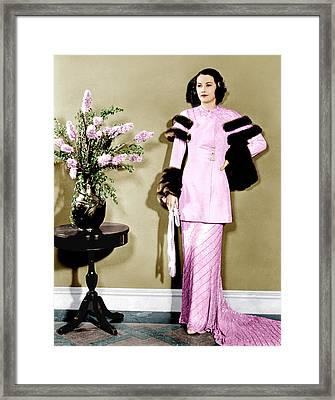 Barbara Stanwyck, Ca. 1934 Framed Print