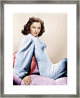 Barbara Stanwyck, Ca. 1946 Framed Print by Everett