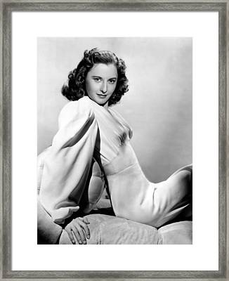 Barbara Stanwyck, Warner Brothers, 3746 Framed Print