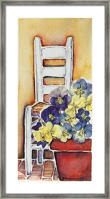 Barbara's Chair Framed Print by Regina Ammerman
