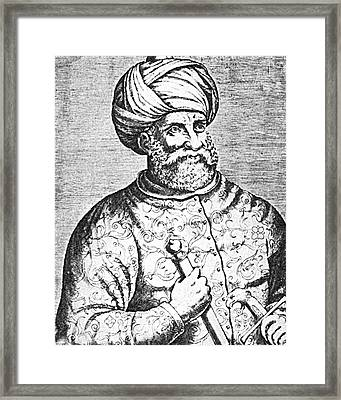 Barbarossa, Ottoman Turkish Admiral Framed Print