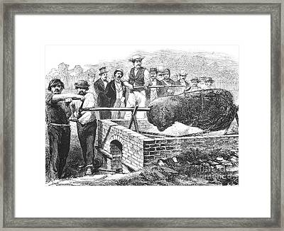 Barbecue, 19th Century Framed Print by Granger