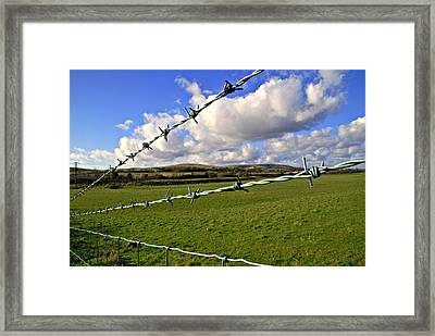 Barbed Wire Cloud Framed Print by Lee Rees