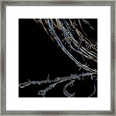 Barbed Wire Framed Print by David Patterson