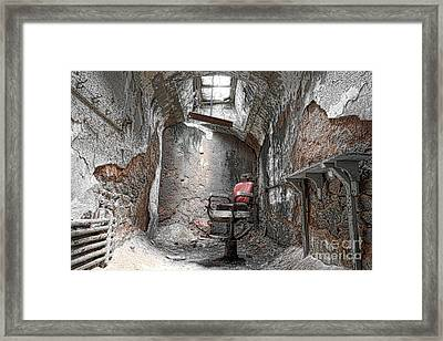 Barber - Chair - Eastern State Penitentiary Framed Print by Paul Ward