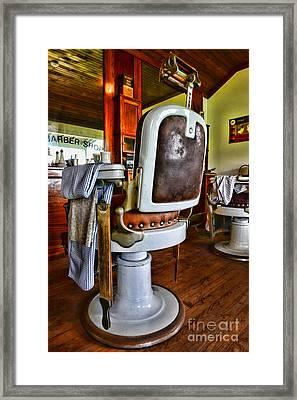 Barber - Barber Chair Framed Print by Paul Ward