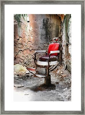 Barber Chair Framed Print by Paul Ward
