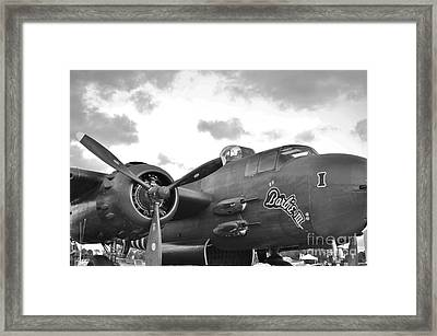 Barbie I I I In Black And White Framed Print