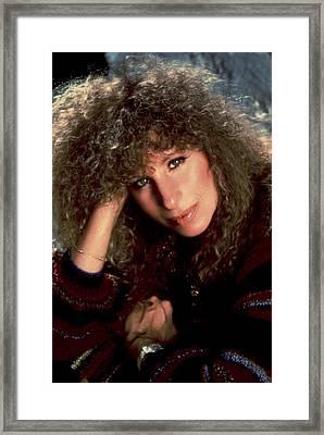 Barbra Streisand In Columbia Records Framed Print