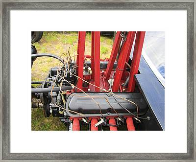 Barbwire Engine Framed Print by Kym Backland