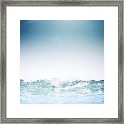 Barcelona Beach Framed Print by Luis Hernández Diaz